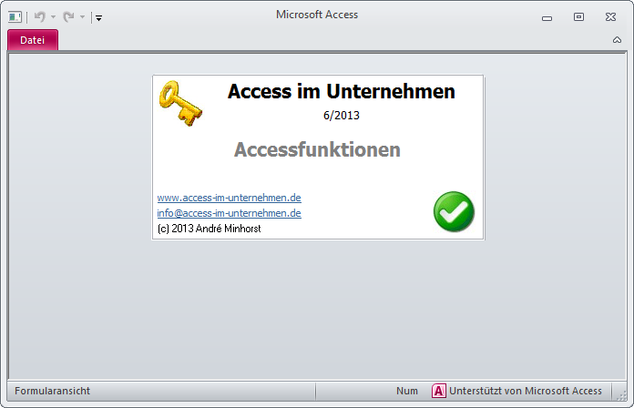 Start der Runtime-Version von Access